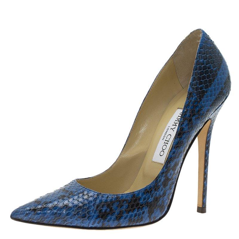 6996d17c9a9 ... cheap jimmy choo blue snakeskin anouk pointed toe pumps size 37.  nextprev. prevnext 07062 ...