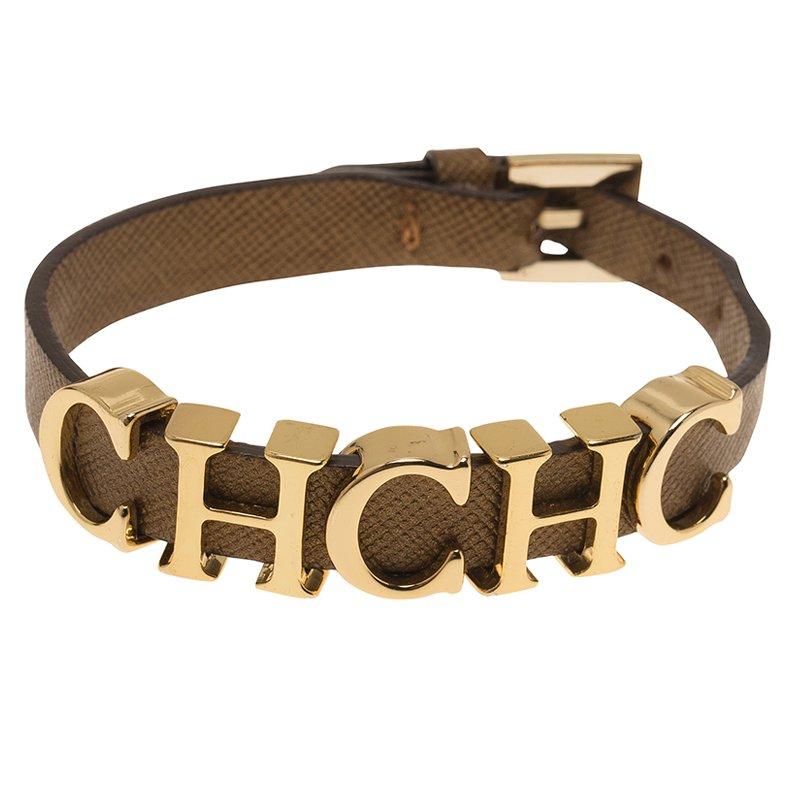 Carolina Herrera Ch Logo Leather Bracelet Nextprev Prevnext