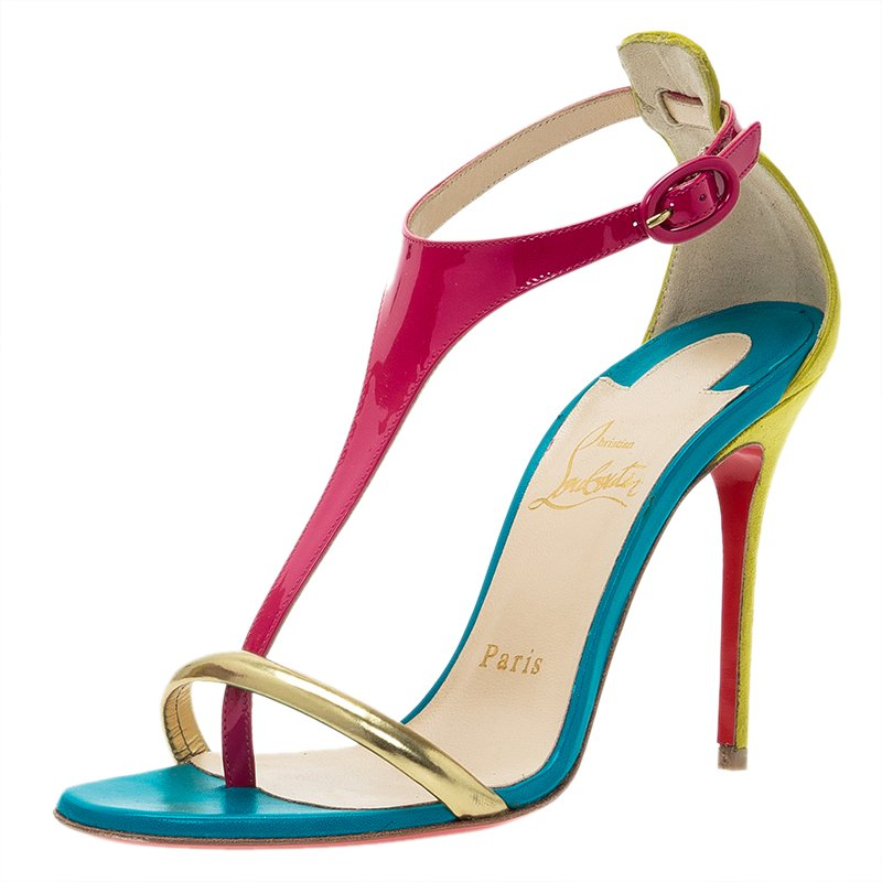 f3317e8f9124f ... canada christian louboutin tri color leather athena sandals size 36.5.  nextprev. prevnext 4b470 6ee91