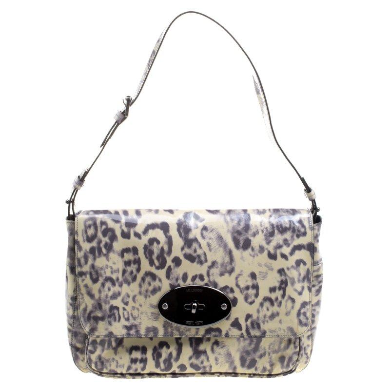 5f8e1d5d1dc ... clearance mulberry grey cream leopard print patent leather bayswater  shoulder bag. nextprev. prevnext 035ea