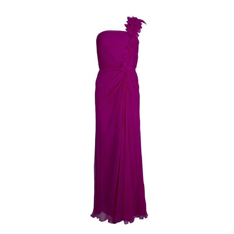 Tadashi Shoji Pink Crinkled Chiffon Ruched Embellished Strapless ...