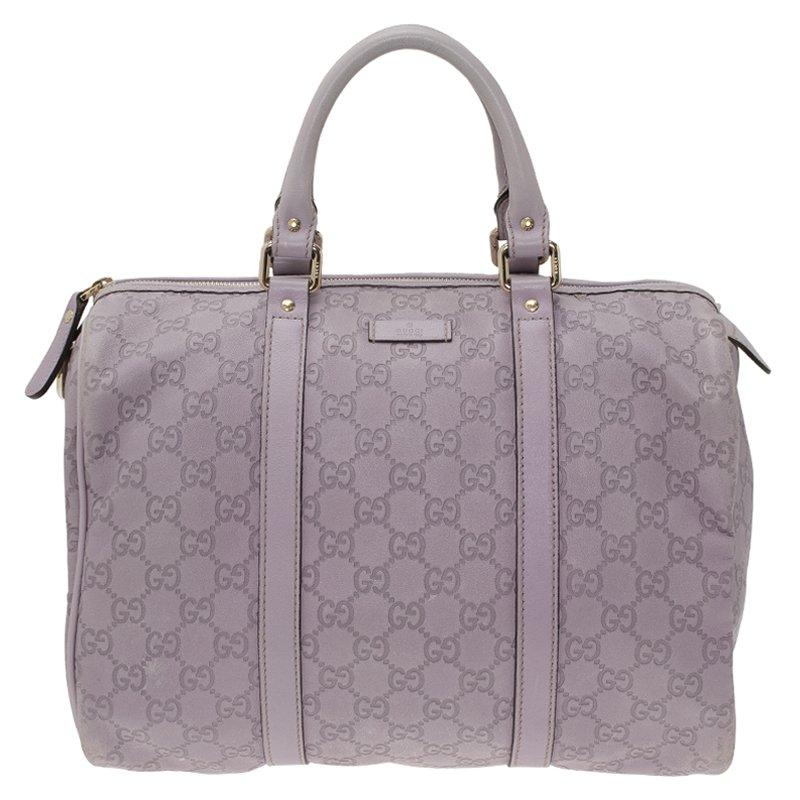 Gucci Lilac Guccissima Leather Medium Joy Boston Bag Nextprev Prevnext