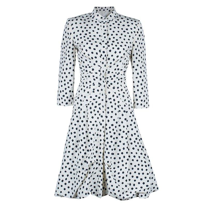 Oscar De La A Polka Dot Dress Coat M Nextprev Prevnext