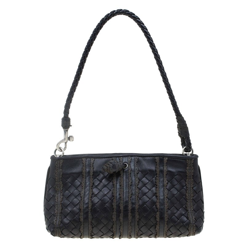 ... Bottega Veneta Black Nappa Intrecciato Leather Mini Ponza Handbag.  nextprev. prevnext bffa2e26b0745