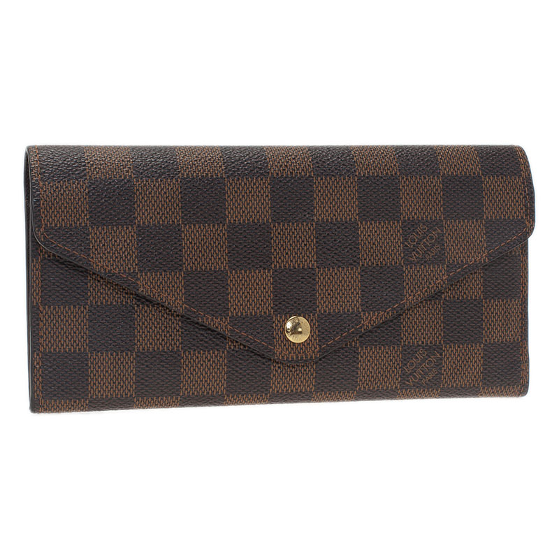Louis Vuitton Damier Ebene Canvas Sarah Wallet with Detachable Pouch