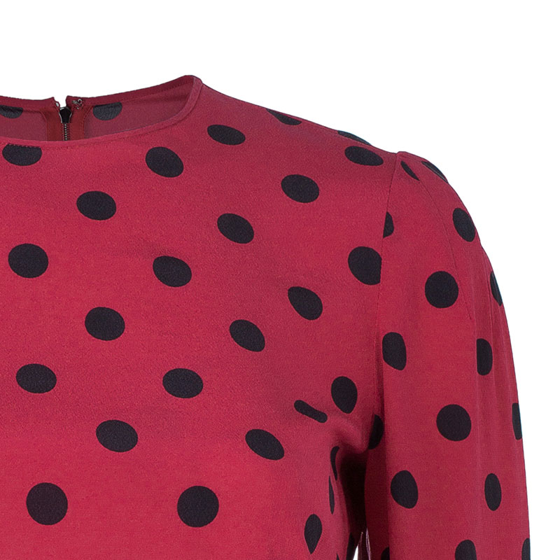 Dolce and Gabbana Red Dotted Top S