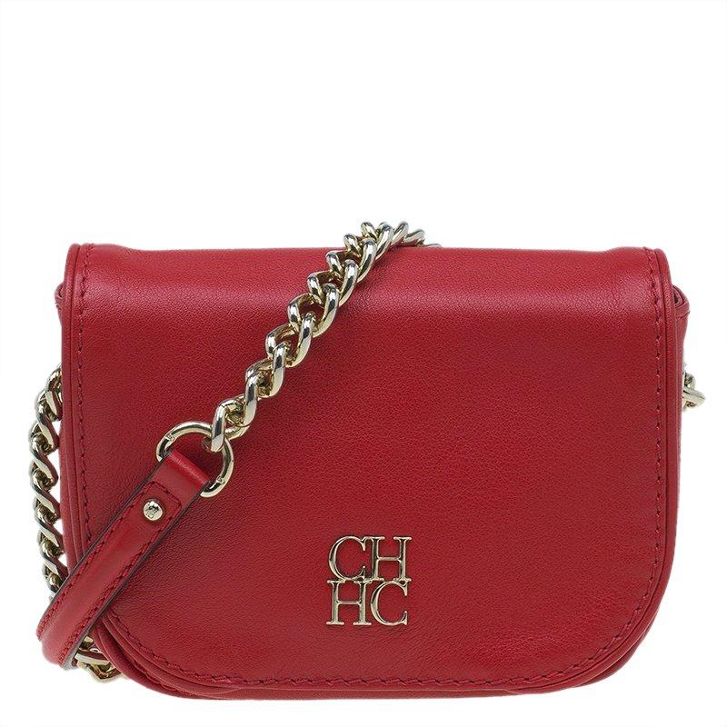 Carolina Herrera Red Leather Crossbody Bag Nextprev Prevnext