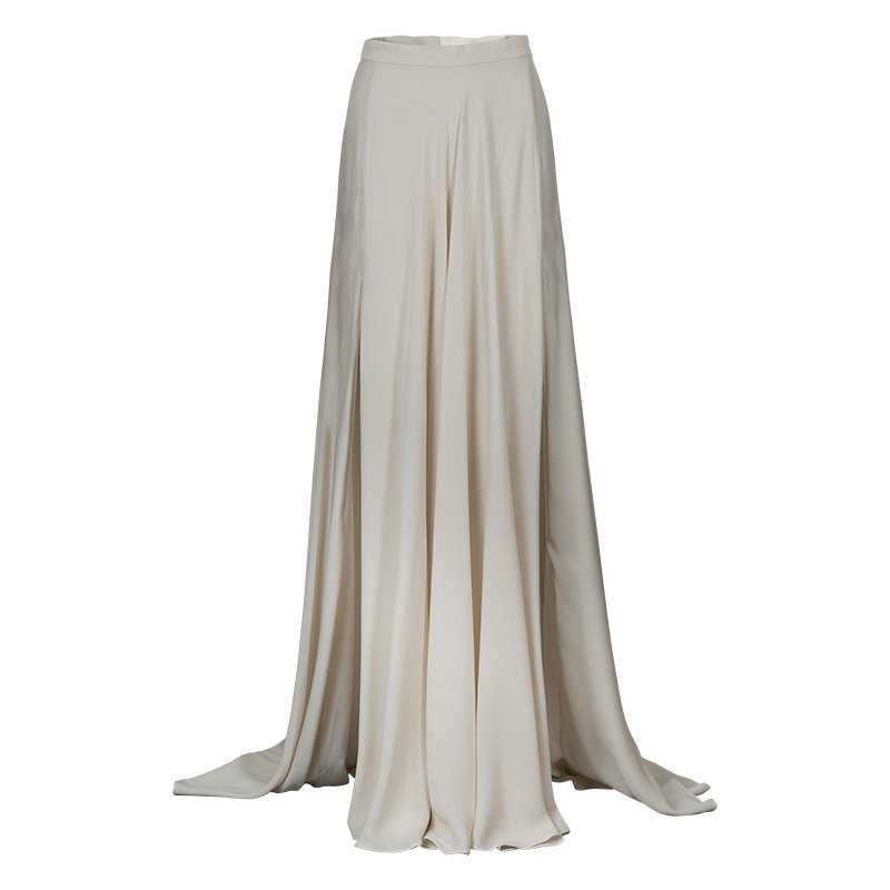 Elie Saab Ivory Double Slit Maxi Skirt M - Buy & Sell - LC