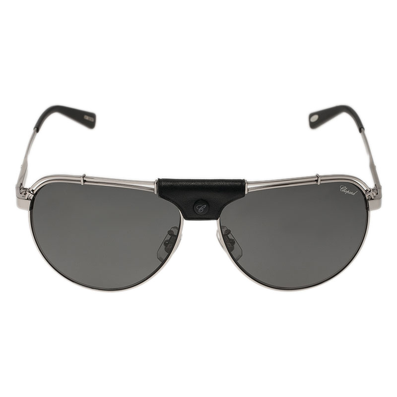 Chopard Grey and Black SCHA12M Aviators