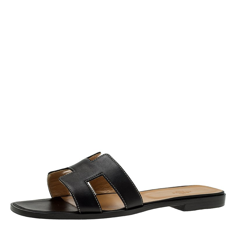 Buy Hermes Nero Pelle Oran Oran Oran Sandalo Size 41 at Beste price   TLC 36edbe