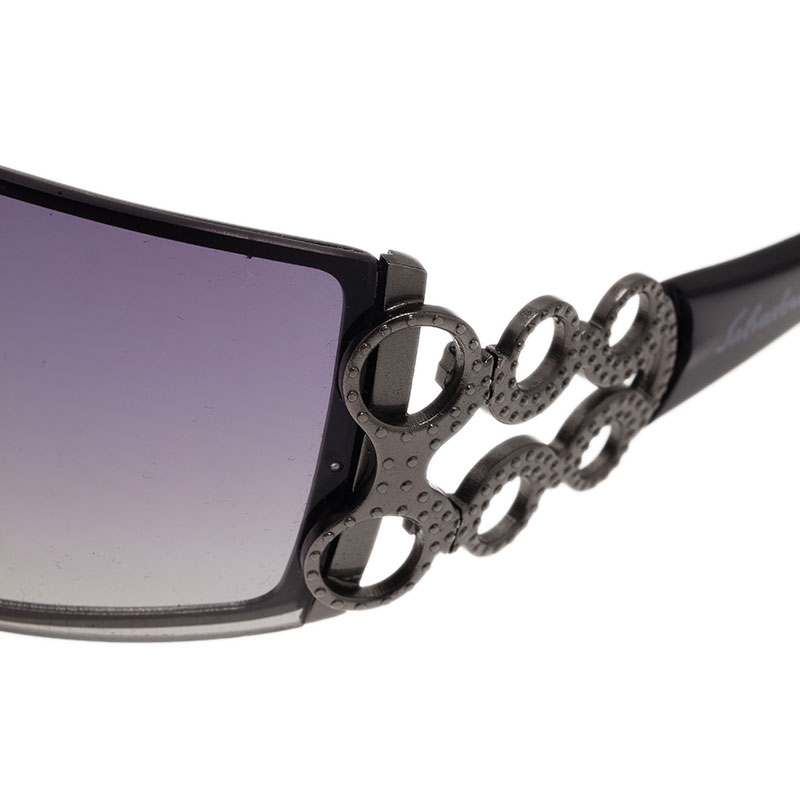 Salvatore Ferragamo Black 2956 Shield Sunglasses