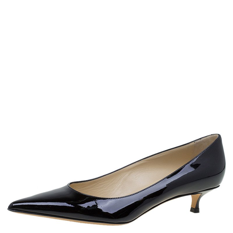 1a014179b sale jimmy choo black patent leather romy 40 pumps size 37.5. nextprev.  prevnext 965b3