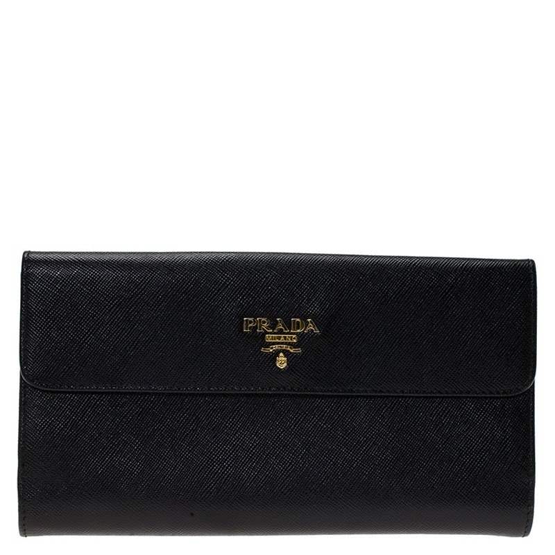 cf7a91dc7ae0 ... inexpensive prada black saffiano leather long flap wallet. nextprev.  prevnext 7b97d 36e40
