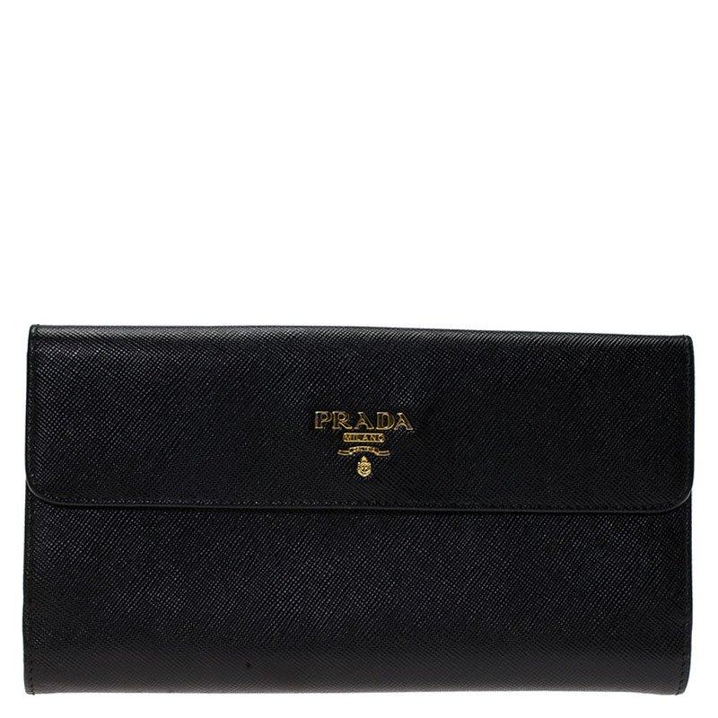 cf7a91dc7ae0 ... inexpensive prada black saffiano leather long flap wallet. nextprev.  prevnext 7b97d 36e40