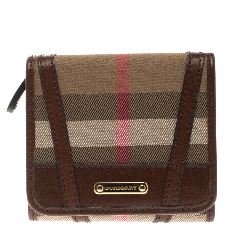 ... Burberry Brown Bridle House Check Fabric Medium Leighton Wallet.  nextprev. prevnext 0b1e0f1217edc