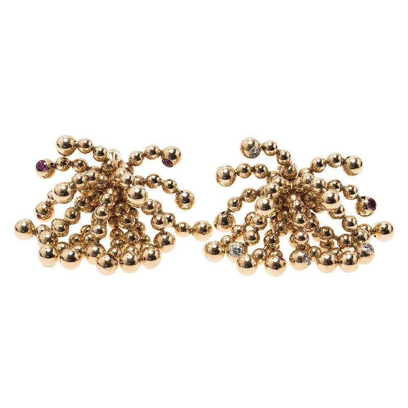 Cartier Paris Nouvelle Vague Diamond and Pink Sapphires Rose Gold ...