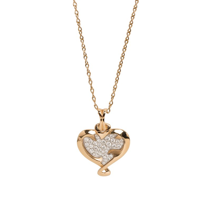 De beers heart in rose diamond rose gold pendant necklace buy rose gold pendant necklace nextprev prevnext aloadofball Image collections