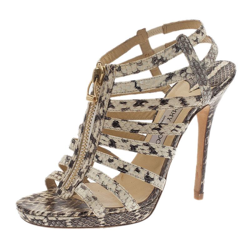 Jimmy Choo Python Cage Sandals sale reliable newest sale online shop for HKMlqp