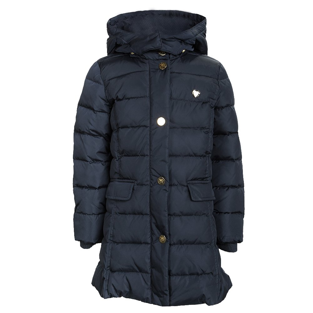 cc778a40d533 Buy Armani Junior Navy Blue Quilted Hooded Down Jacket 6 Yrs 99235 ...