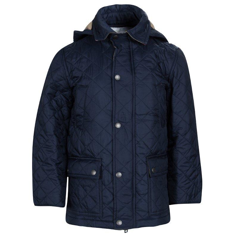 08376ba7f ... Burberry Children Navy Blue Diamond Quilted Hooded Charlie Jacket 6  Yrs. nextprev. prevnext