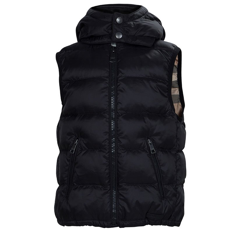 8498bb972 ... Burberry Children Black Quilted Hooded Down Jacket 4 Yrs. nextprev.  prevnext