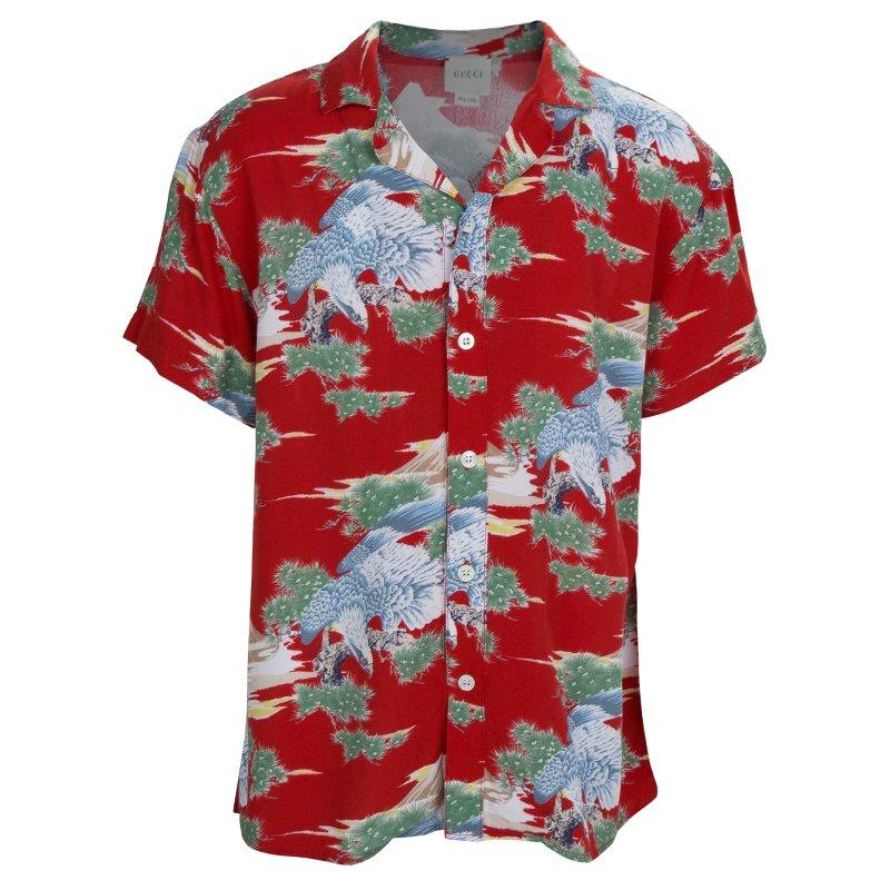 9b2e3ea8 ... Gucci Multicolor Eagle Print Short Sleeve Buttondown Shirt 8 Yrs.  nextprev. prevnext