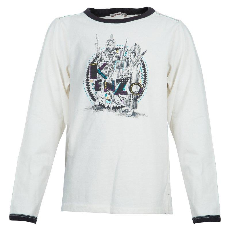 046bc296 ... Kenzo Kids Off-White Embroidered Print Detail Long Sleeve Crew Neck T  Shirt 8 Yrs. nextprev. prevnext