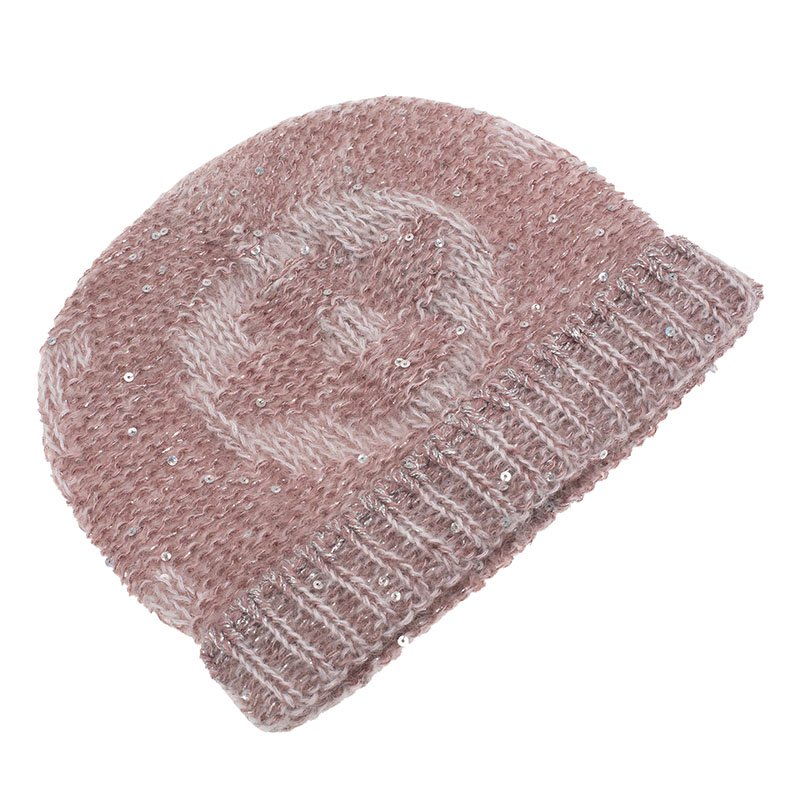 Buy Louis Vuitton Pink Monogram Glitter Beanie 68636 at best price  e46c213695d