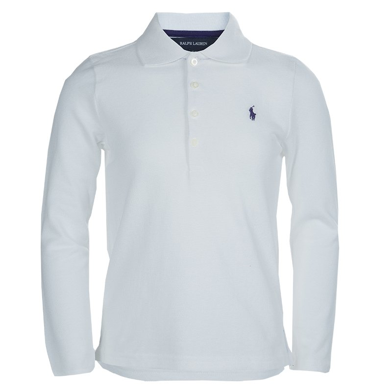 437fb77f ... Ralph Lauren White Long Sleeve Polo T-Shirt 6 Yrs. nextprev. prevnext