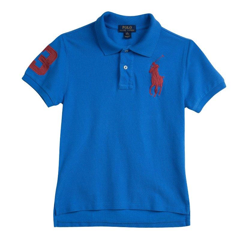 By Ralph 10 12 Yrs Blue T Shirt Polo Lauren MVqpUSz