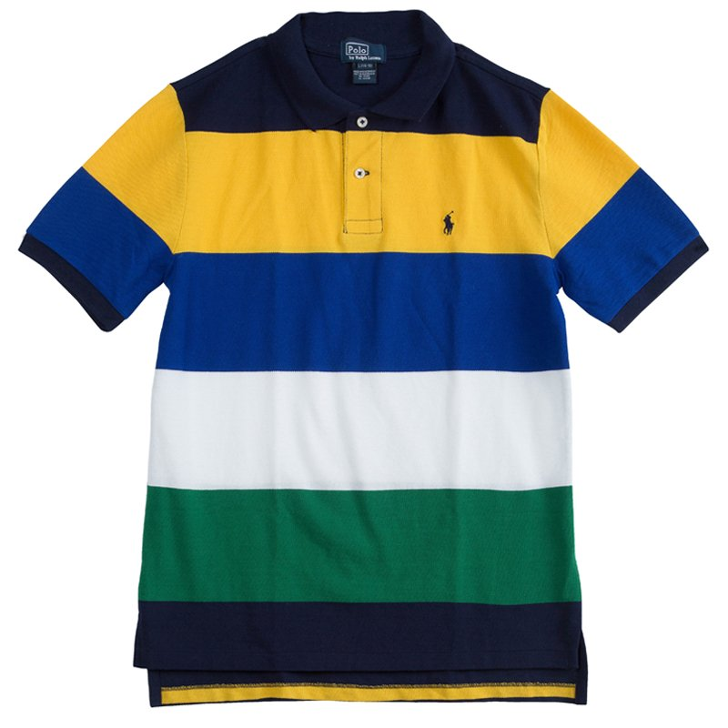 0c224dc641c6 Buy Polo by Ralph Lauren Colorblock Striped Polo T-Shirt 14-16 Yrs ...