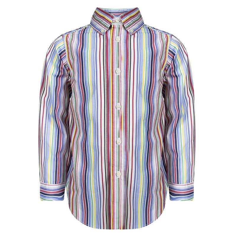 f79ff86c6 Buy Ralph Lauren Multicolor Striped Button Down Long Sleeve Shirt 4 ...