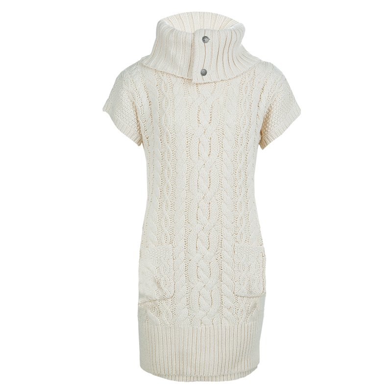 Buy Ralph Lauren Cream Turtleneck Cable Knit Short Sleeve Sweater