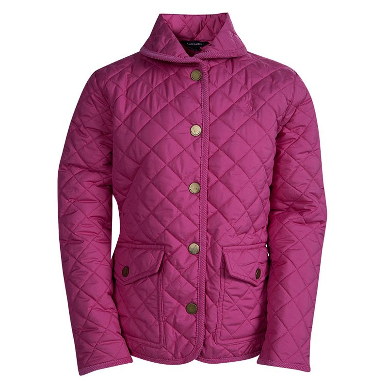 56abe552 Ralph Lauren Kids Hot Pink Diamond Quilted Jacket 8-10 Yrs