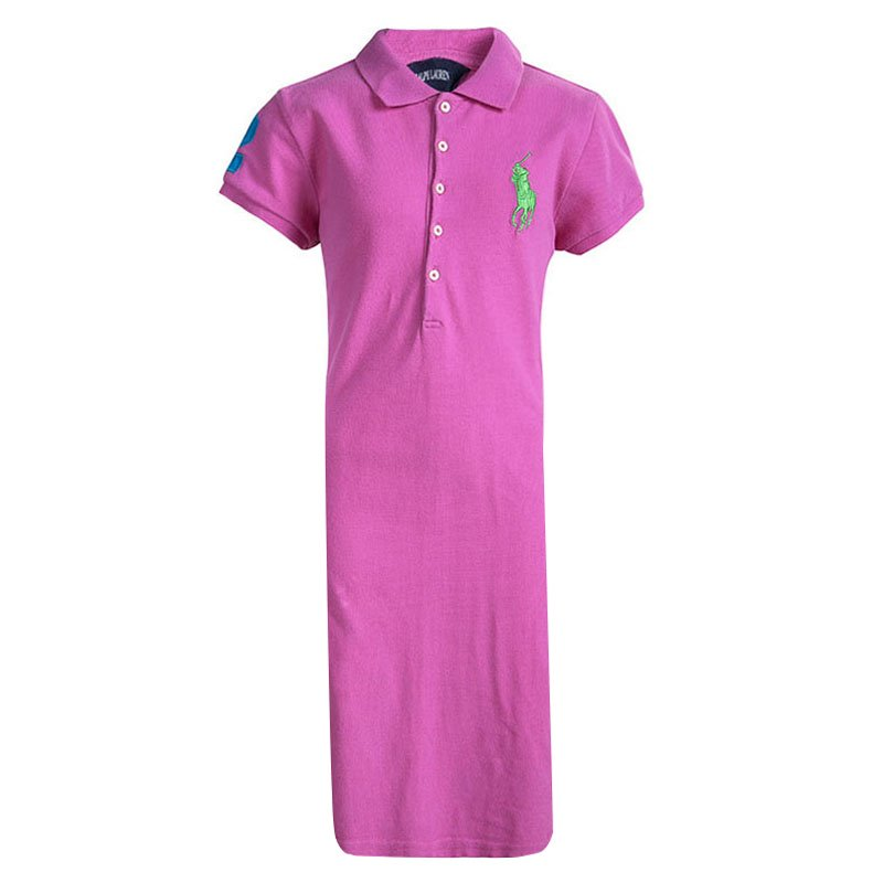 Yrs Cotton Pink Lauren Dress Ralph 12 Polo vN8nw0m