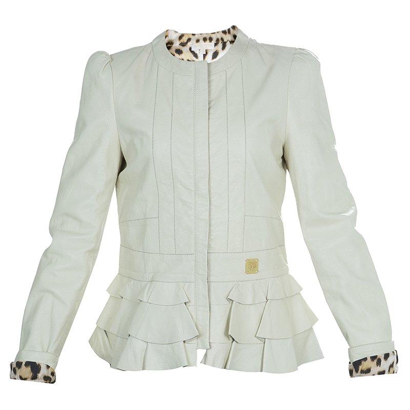 6df789eeb Buy Roberto Cavalli Angels Cream Frill Detail Leather Jacket 12 Yrs ...