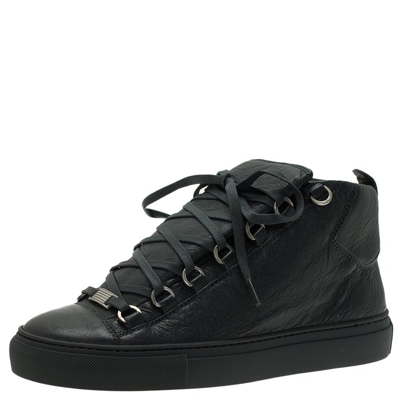buy popular b125c 5f7e2 ... Balenciaga Grey Leather Arena High Top Sneakers Size 39. nextprev.  prevnext