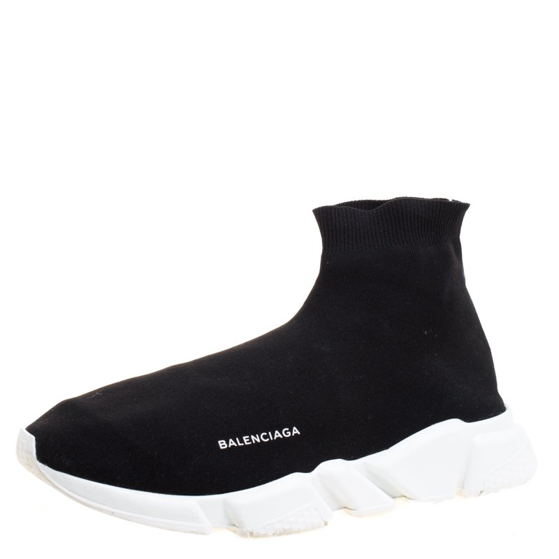 56112fe4ddcc ... Balenciaga Black Knit Fabric Speed Trainer Sneakers Size 46. nextprev.  prevnext