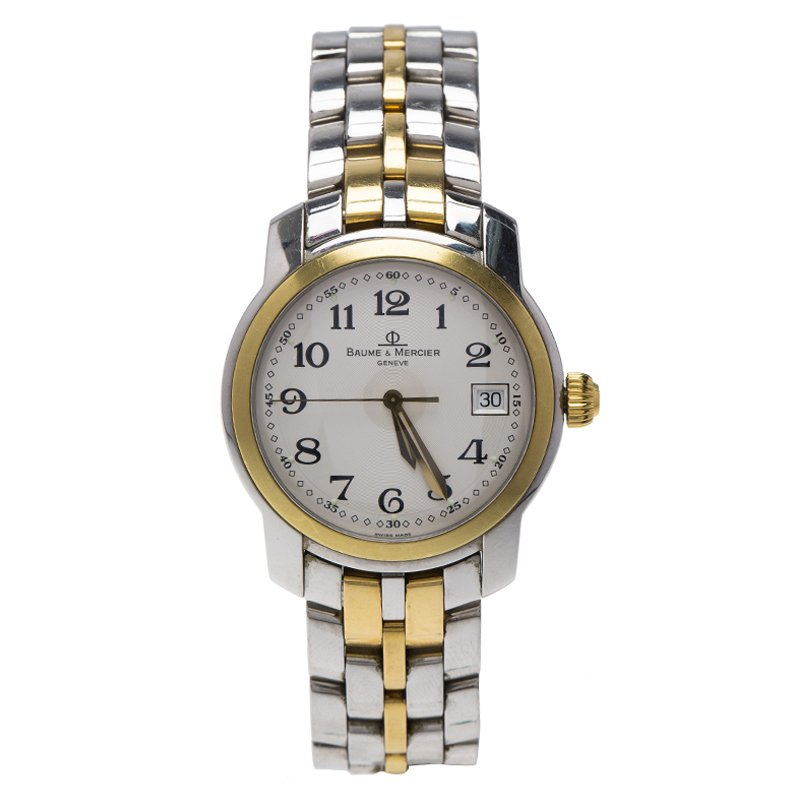 e8eabb46c Buy Baume & Mercier White Stainless Steel & 18k Gold MV045215 Men's ...