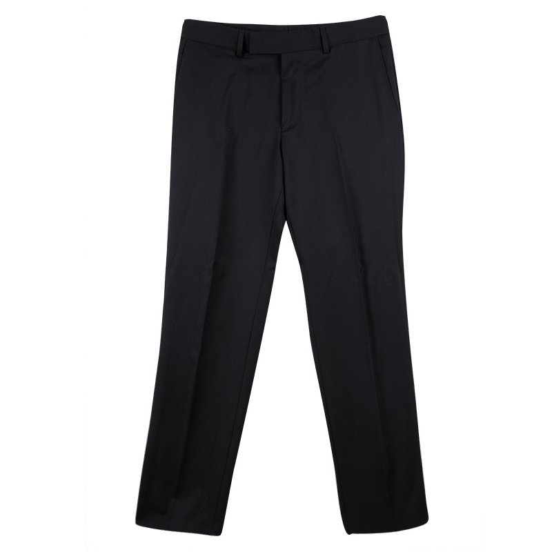 Boss By Hugo Boss Black Wool Tailored Trousers S