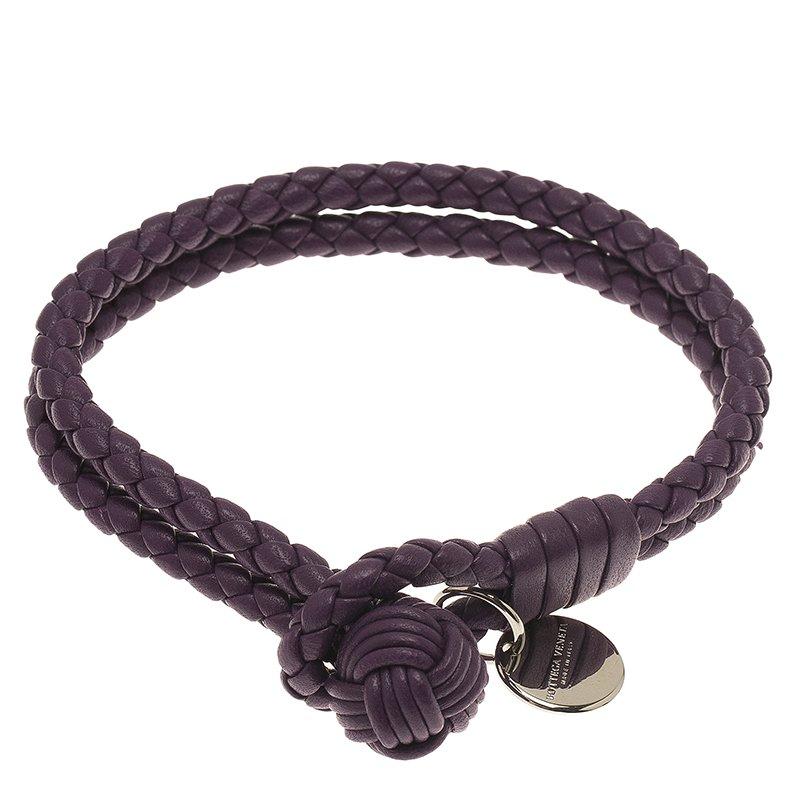 2b169a43f23 ... Bottega Veneta Intrecciato Nappa Double Strand Purple Leather Bracelet.  nextprev. prevnext
