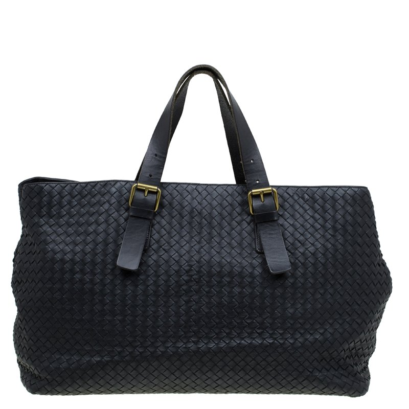 b5d143471cee ... Bottega Veneta Black Intrecciato Woven Leather Tote. nextprev. prevnext