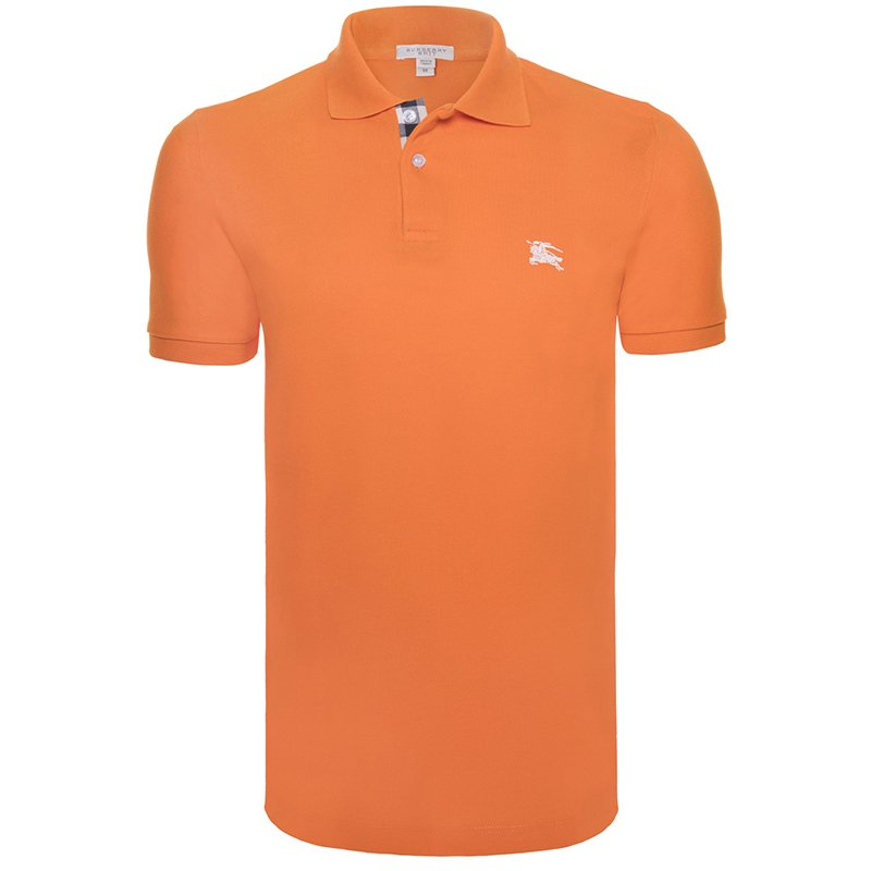 c1ea0159b Buy Burberry Brit Orange Short Sleeve Polo TShirt L 65993 at best ...