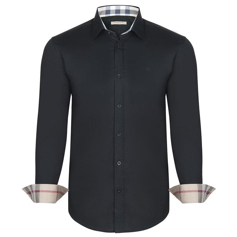 b967bf00c إشتري قميص بربري بريت تفاصيل كاروهات نوفا قطن أسود XL 66055 بأفضل ...