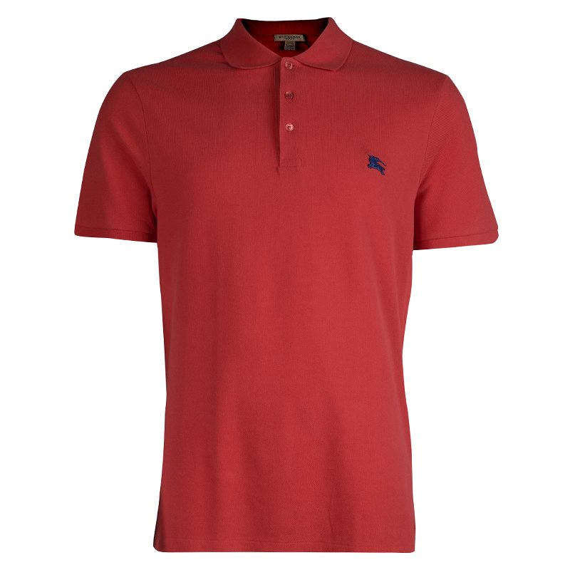 Burberry Brit Red Polo T-Shirt XL