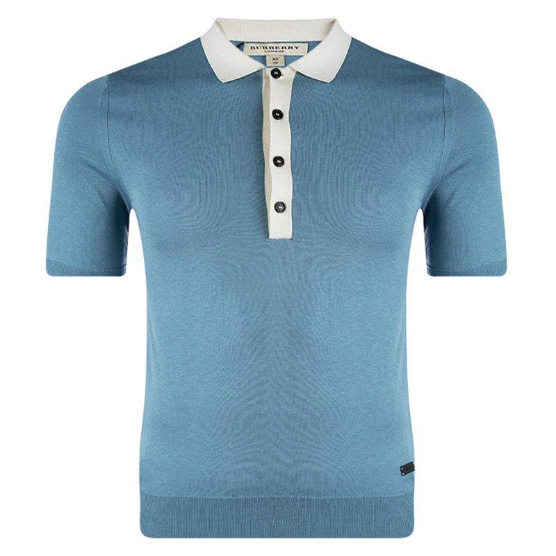 40b8ceb4 ... Burberry London Peridot Blue Contrast Collar Polo T-Shirt XS. nextprev.  prevnext