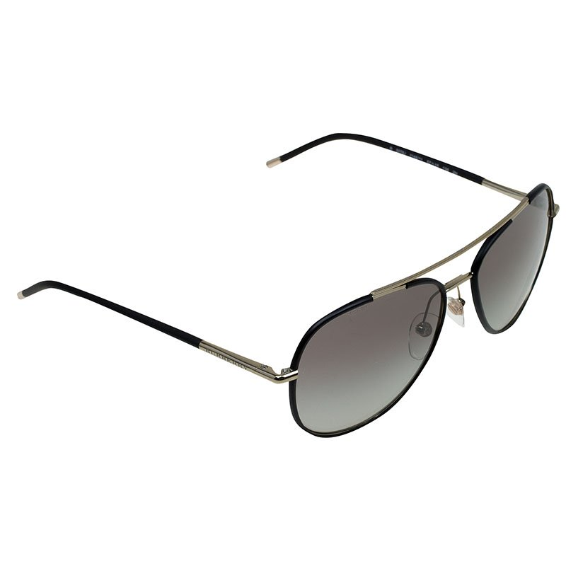5d4f3ff17147 Buy Burberry Matte Black and Gold Aviators 82060 at best price