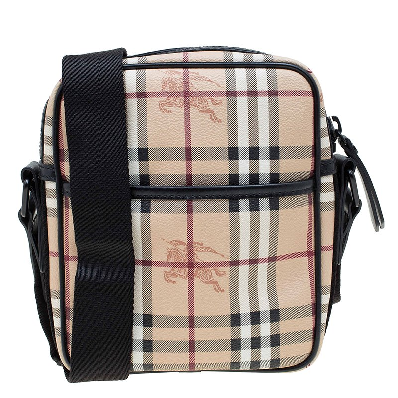 c0fb80a2beb0 ... Burberry Beige Black Classic Check Coated Canvas Equestrian Crossbody  Bag. nextprev. prevnext