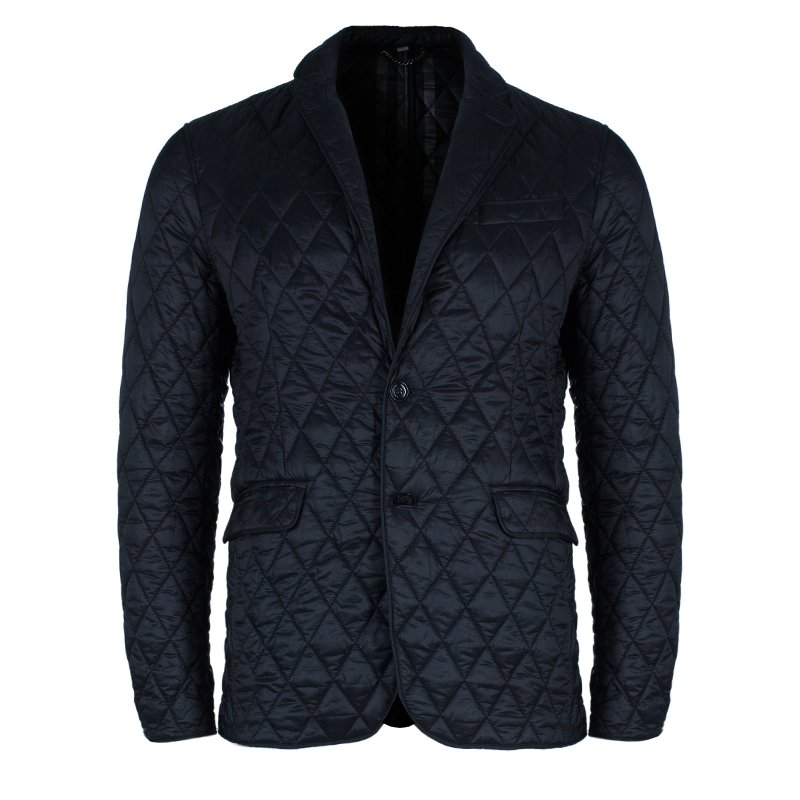 8686a1e9cfb06 Burberry Men's Black Diamond Quilted Jacket L