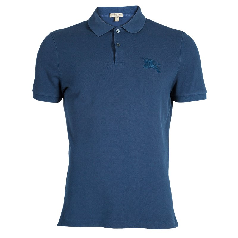 d72c2d1ba Buy Burberry Brit Men s Blue Polo Shirt L 46394 at best price